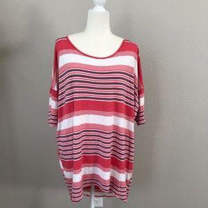 LuLaRoe Striped Textured Irma Tunic Medium 12/14